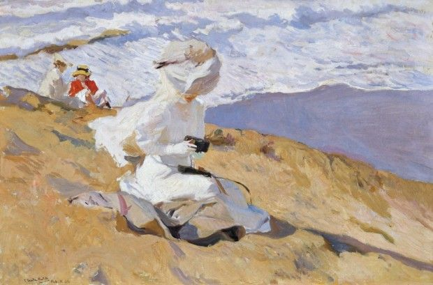 Joaquín Sorolla, Capturing the Moment, Biarritz, 1906, Oil on canvas, 62 x 93,5 cm, Museo Sorolla, Madrid
