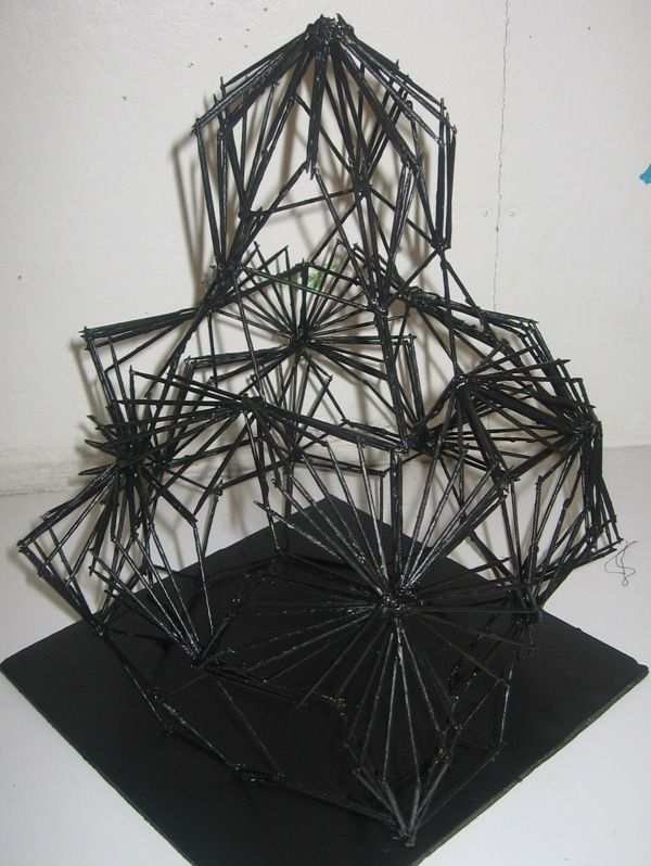 Linear Structure - RISD Pre-CollegeMaterials: 300 or more toothpicks, hot  glue, paintStudents explored creating modules and repeating these modules  to ...