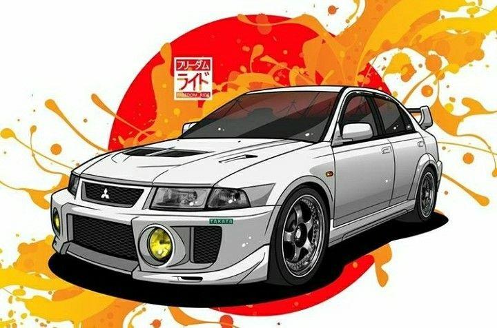 Mitsubishi Evo Japan Cars Art Cars Mitsubishi Lancer Evolution Cool evos image wallpaper