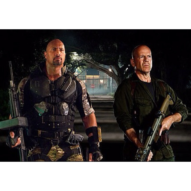 Have I died and gone to heaven?! Bruce and Dwayne: my 2 all-time favorite actors perfectly paired in a  action packed movie full of muscles :): Bald Head, Gi Joe, Movie Seasons, Dwayne Johnson, Movies, Summer Movie, Dwayne Therock, Bruce Willisrock, Therock Johnson