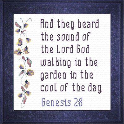 89 best cross stitch bible verses images on pinterest for Garden design bible