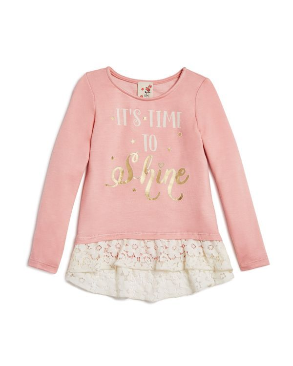 Lily Bleu Girls' It's Time To Shine Top - Sizes 2-6X