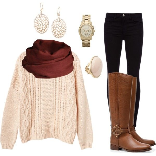 """""""Scarf + Sweater Outfit"""" by michaela-9-5 on Polyvore"""