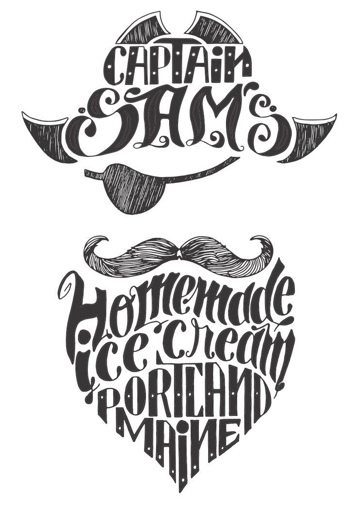 Captain Sam's Ice Cream: vintage lettering design