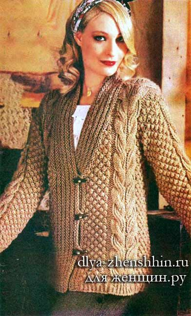 dcf68282db64 Кардиган спицами для полных женщин   Плетем дрехи Вязаная одежда stricken...    Knitting, Knit Crochet и Crochet