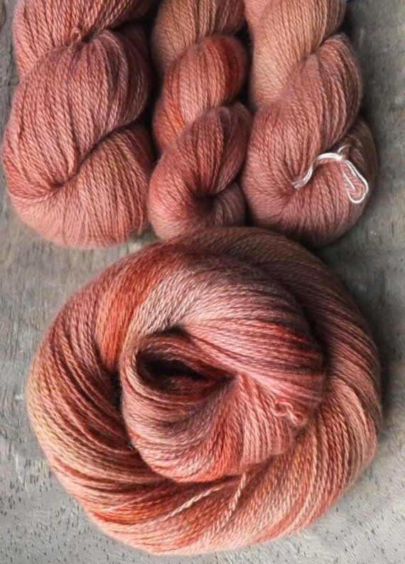 Soft Terracotta Hand Dyed Cashmere Yarn