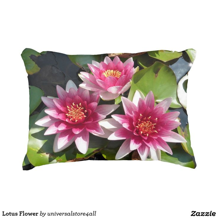 Lotus Flower Accent Pillow