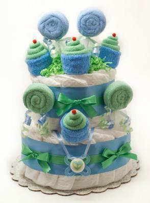 Diaper cake =D: Shower Ideas, Shower Gifts, Gift Ideas, Diaper Cakes, Baby Cakes, Baby Showers, Baby Shower