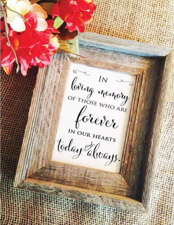 Hey, I found this really awesome Etsy listing at https://www.etsy.com/listing/221289445/in-loving-memory-sign-wedding