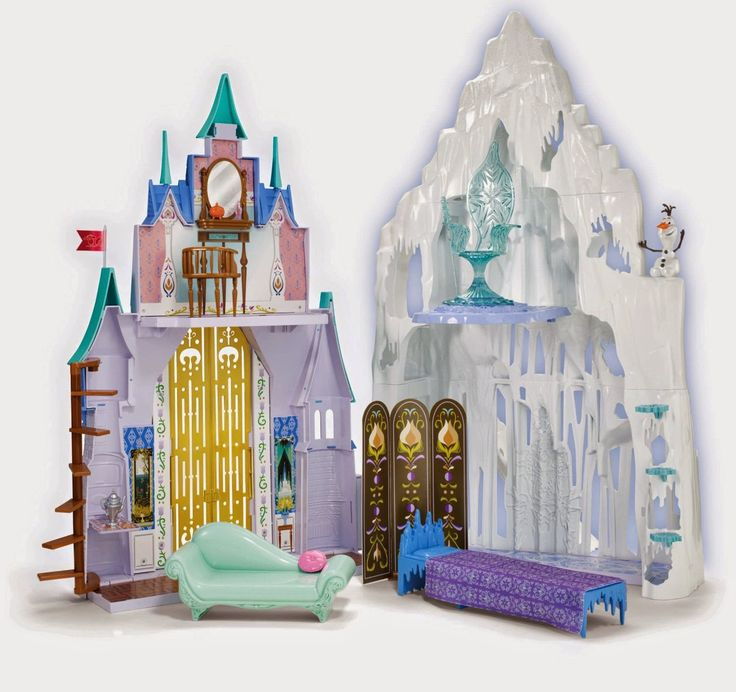 Disney Frozen Castle & Ice Palace Playset from Mattel Watch the video review http://livinggood-entrepeneural.blogspot.com/2014/10/toys-for-girls.html