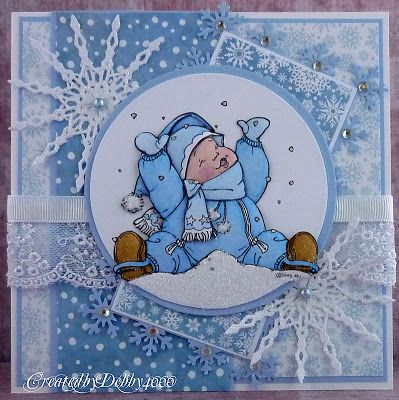 debby4000.blogspot.com: Snowflakes Cards, Baby Cards, Art Challenges, Mo Drawings, Snow Cards, Christmas Cards Wins, Cards Christmas Cards, Cards Mo Men, Baby Kids Cards