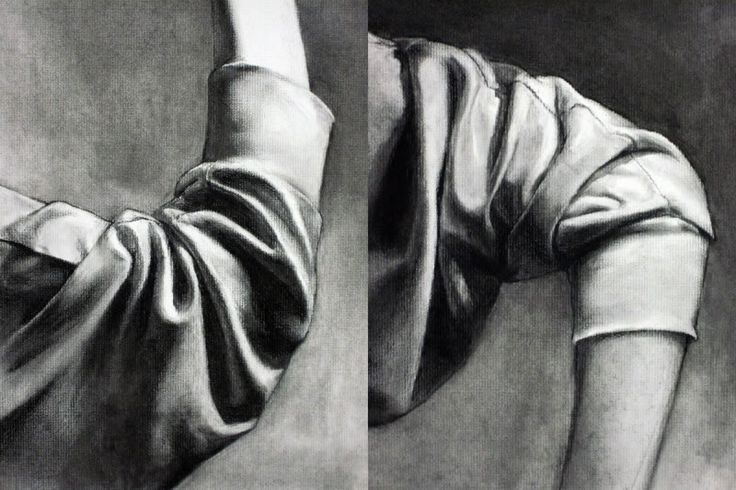 Lizarie - drapery - compression folds