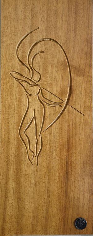 Artemis  - Iroko wood -Heroes of Greek myths