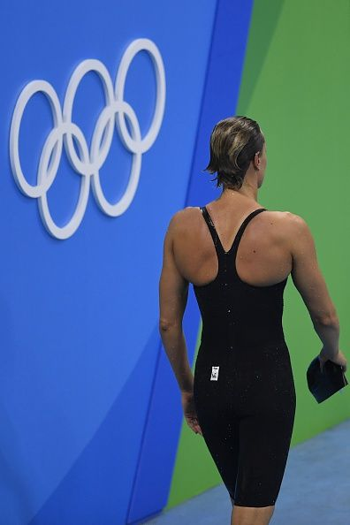 #RIO2016 Italy's Federica Pellegrini leaves after she competed in the Women's 200m Freestyle Final during the swimming event at the Rio 2016 Olympic Games at...