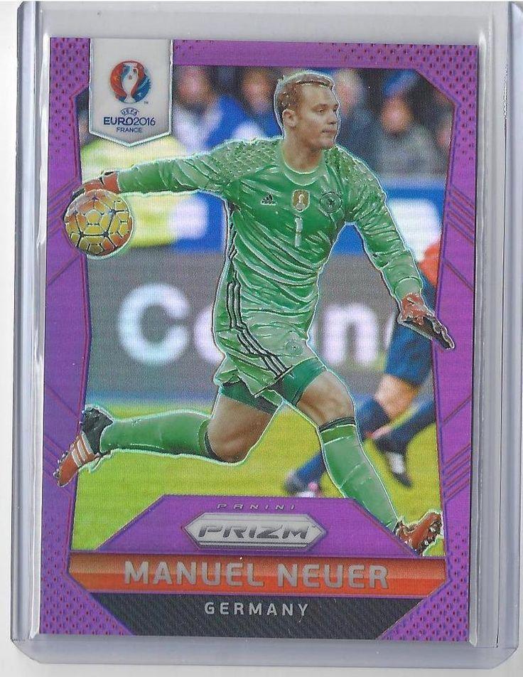 2016 Panini Prizm UEFA Euro Soccer Manuel Neur Purple Prizm Card #35/99 Germany #Germany