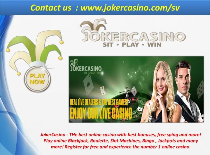 JokerCasino - THe best online casino with best bonuses, free sping and more! Play online Blackjack, Roulette, Slot Machines, Bingo , Jackpots and many more! Register for free and experience the number 1 online casino. https://www.jokercasino.com/sv/