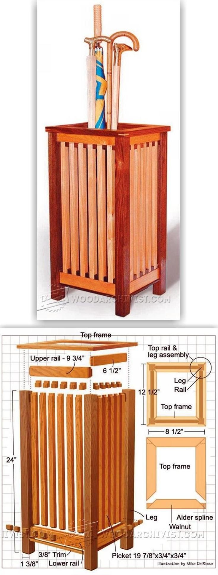 Walking Stick Stand Plans - Furniture Plans and Projects | WoodArchivist.com