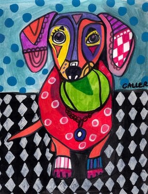 Painting of a strange dog Reminds me of how children play with their imagination. We, as so called adults, let our imagination die, little by little.