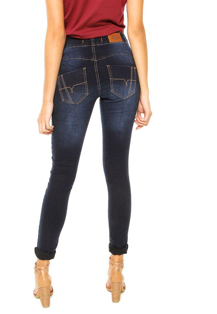 Calça Jeans Biotipo Skinny Bolsos Azul - Marca Biotipo