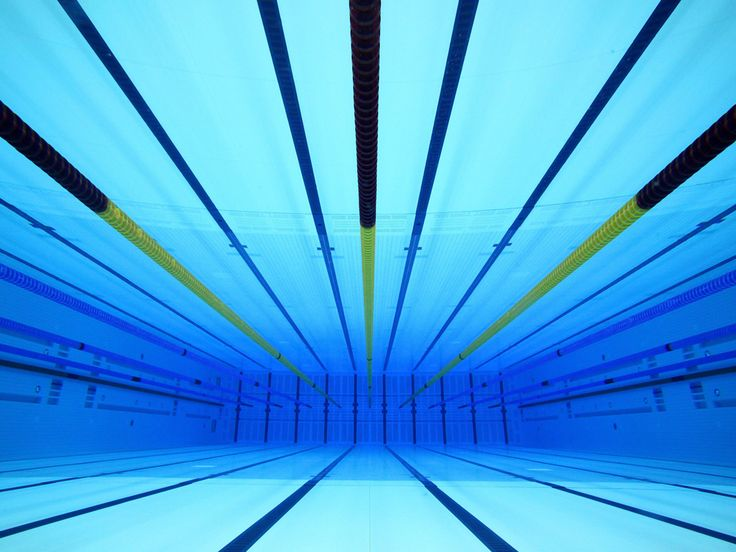 underwater view of the olympic swimming pool at the aquatic centre in the london 2012 olympic park
