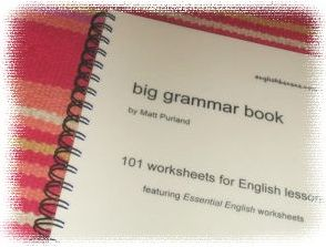 The (free!) Big Grammar Book is especially for elementary grade students.  The 101 worksheets are graduated in difficulty and may be printed and used freely.