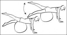 Swiss-ball Fessiers - Exercice avec ballon N°1