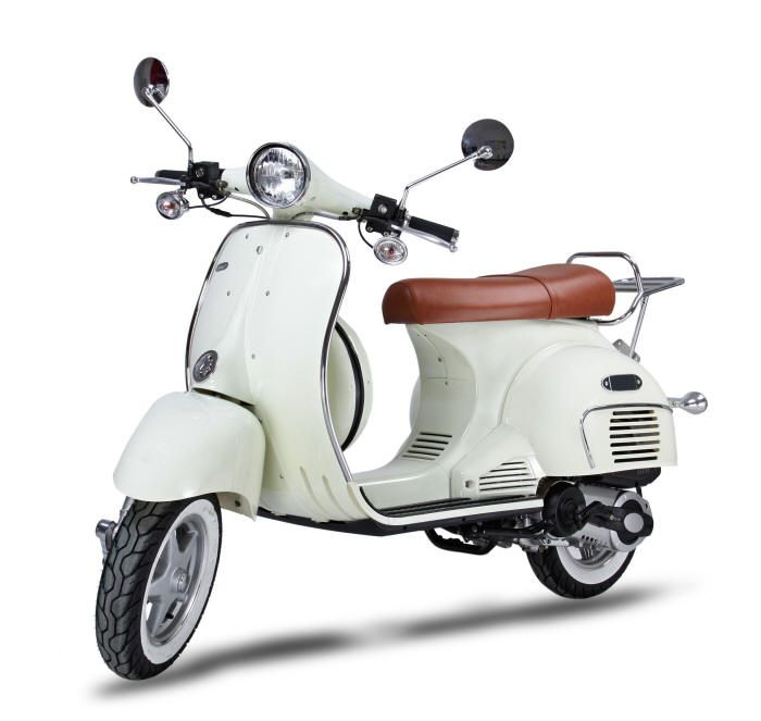 st marlo 50cc and 150cc retro scooter vespa look a like. Black Bedroom Furniture Sets. Home Design Ideas