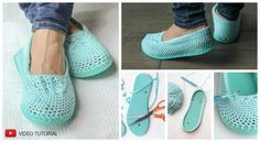 Creative and Comfortable Crochet Slippers With Flip Flop Soles – Pretty Ideas