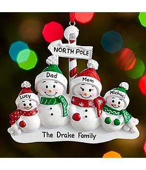 *New*–North Pole Family Ornament Send season's greetings from the North Pole from the whole snow-loving family. http://kittykatkoutique.com/all-new-personalized-christmas-ornaments-2015/