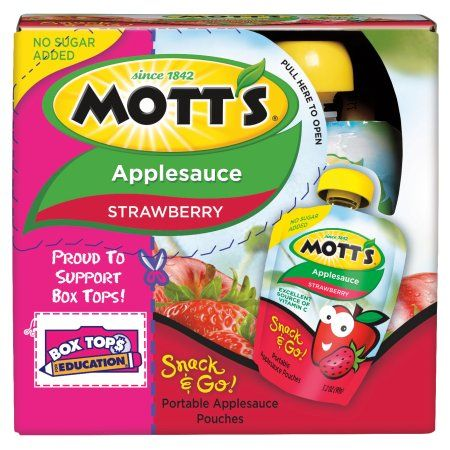 Mott's Snack & Go Strawberry Applesauce, 3.2 oz, 4 count