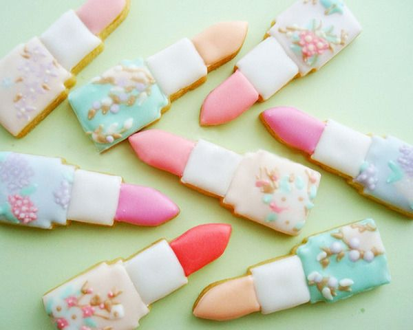 lipstick cookies: Cookies Monsters, Bachelorette Parties, Cookies Decor, Decor Cookies, Parties Ideas, Bridal Shower, Lipsticks Cookies, Girls Parties, Lipsticks Cakes
