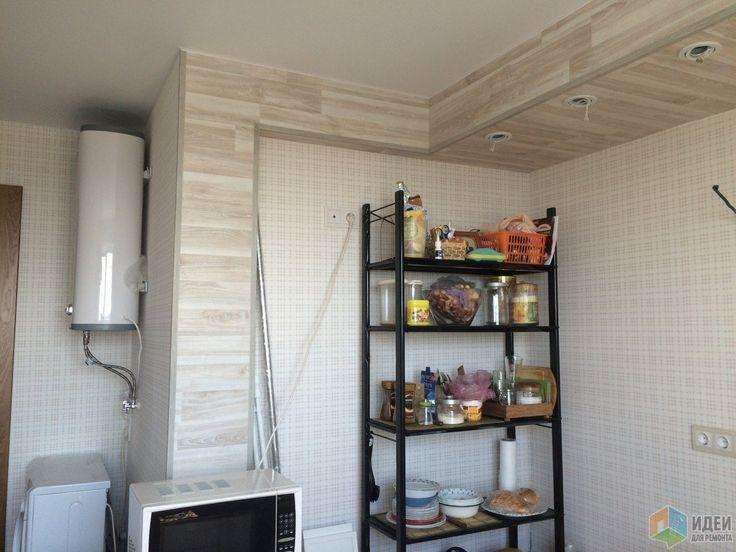 В процессе, на фото видно расположение стиральной машны и водонагревателя.