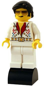 Lego Elvis - Little Legend'sElvis Presley minifigures are designed and hand customised by the Little-Legends team using brand new Lego parts and custom components to bring you an inspired tribute to 'The King'.