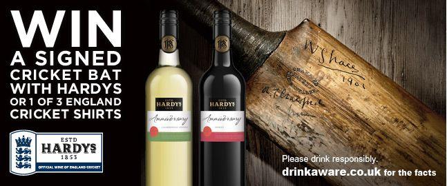 Win England Cricket Merchandise With Hardys Wine