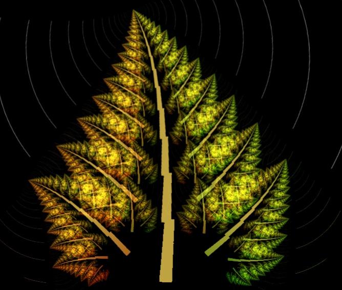 Fractal Leaf (screen shot I took from WinAmp generated visualization)