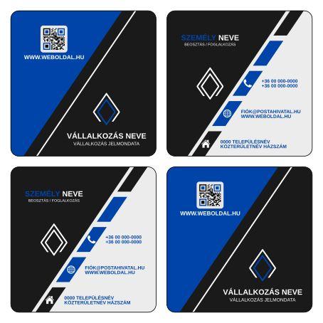 Üzleti névjegykártya másként  (ABC - Another Business Card) tervek (Inkscape - SVG formátum) Kék / Fekete