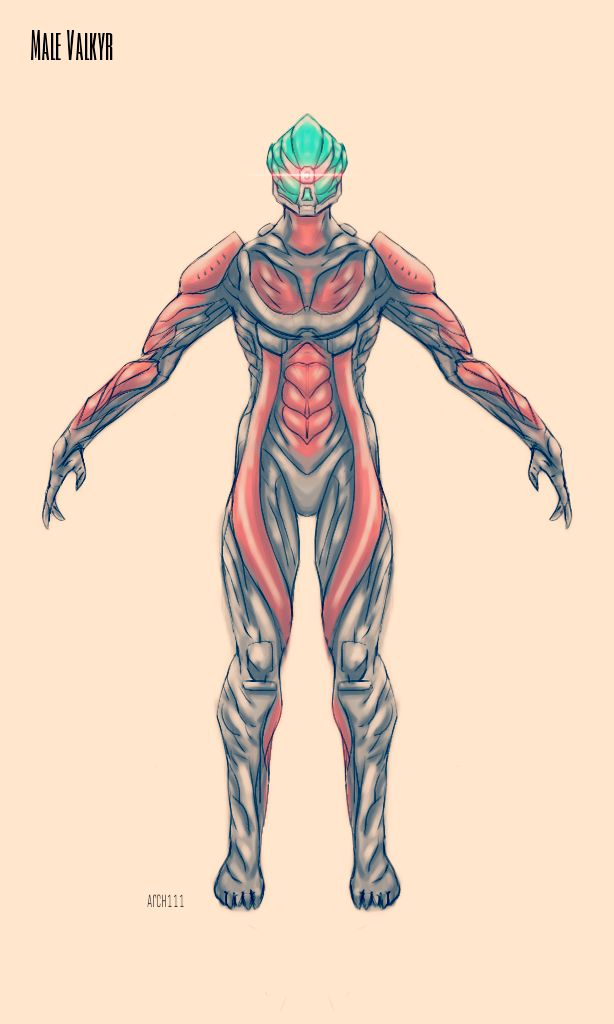 I got challenged to do a male Valkyr. So I did
