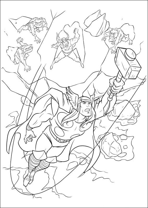 20 Free Printable Thor Coloring Pages: 34 Best Marvel Characters Coloring Pages Images On