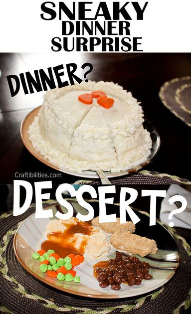 Foods that look like dessert.  Dessert disguised as dinner. Fake-out foods are a fun way to feed and trick your family