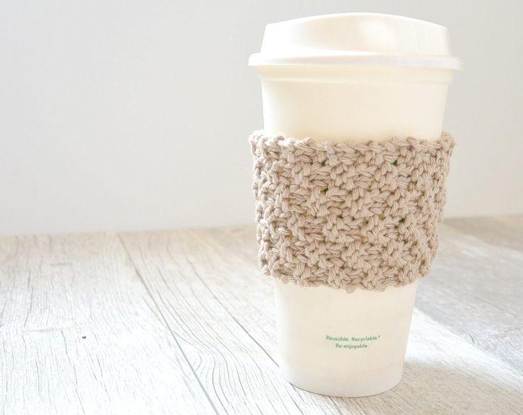 Knit Coffee Cozy Pattern