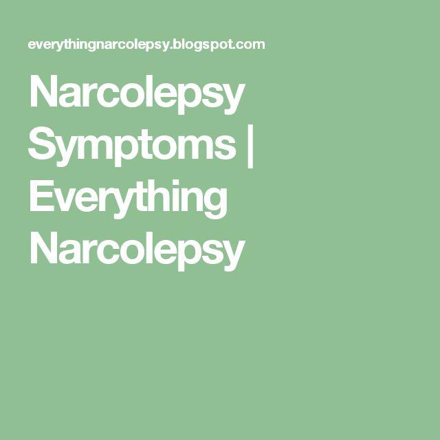 Narcolepsy Symptoms | Everything Narcolepsy