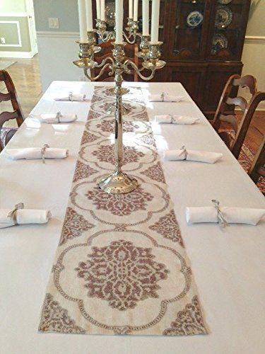 Elegant Tablecloth, Linen Runner And Napkins (Charcoal) T... Https: