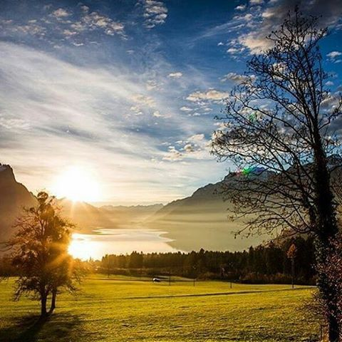 In love with those magic moments on the lake Brienz! Have a great friday