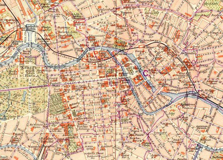 Best Berlin Karten Images On Pinterest Cards Historical - Map of berlin city centre