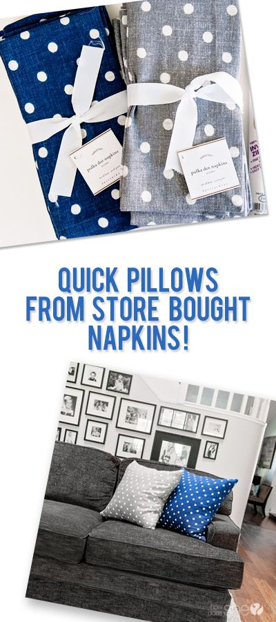 Quick pillows from store bought napkins #howdoesshe #crafting #sewing howdoesshe.com