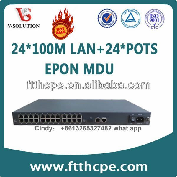 24 port EPON MDU Support IGMP Snooping and QinQ VLAN 8 port GPON Gepon ONU