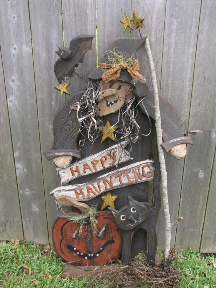 Full Size Woodcraft Patterns | Wood Craft Primitive Halloween Witch Cat Pattern 240 | eBay