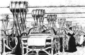 Telar mecánico. Fue inventado en 1784 por Edmund Cartwright. Se aplicó en el sector de textil para tejer más rápido y con energía proporcionada por la máquina de vapor.  http://lahistoriadeanton.blogspot.com.es/2008/03/principales-inventos-de-la-revolucion_17.html Por: Inés López de Toledo
