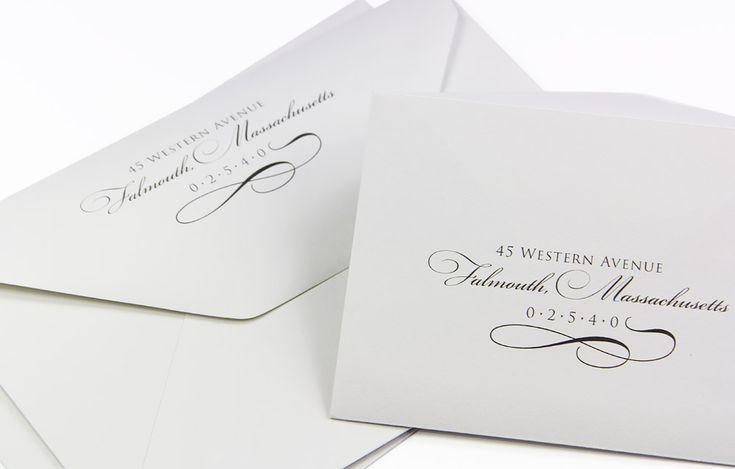 Printing Wedding Invitation Envelopes At Home: Elegant Custom Printed Cotton