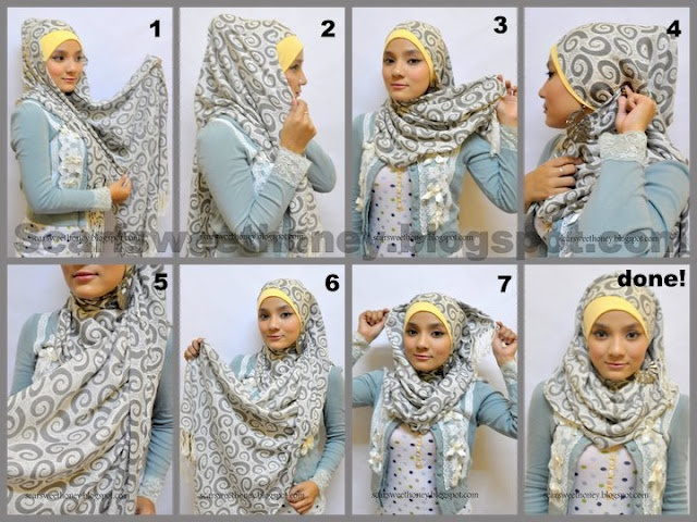 complex but good hijab tutorial
